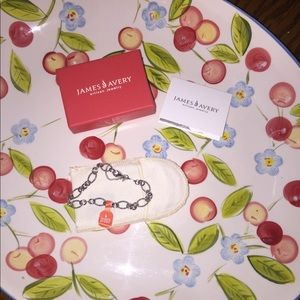 NIB James Avery Oval Twist Charm Bracelet sz L